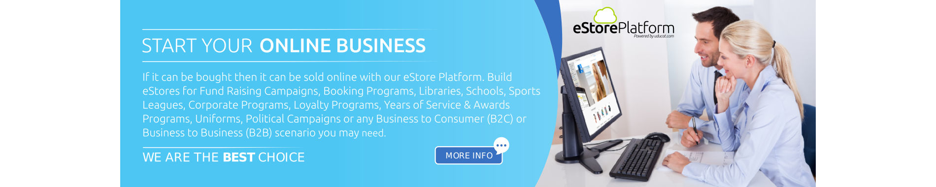 Company Store, Retail Store, B2B Store - Build it on our platform